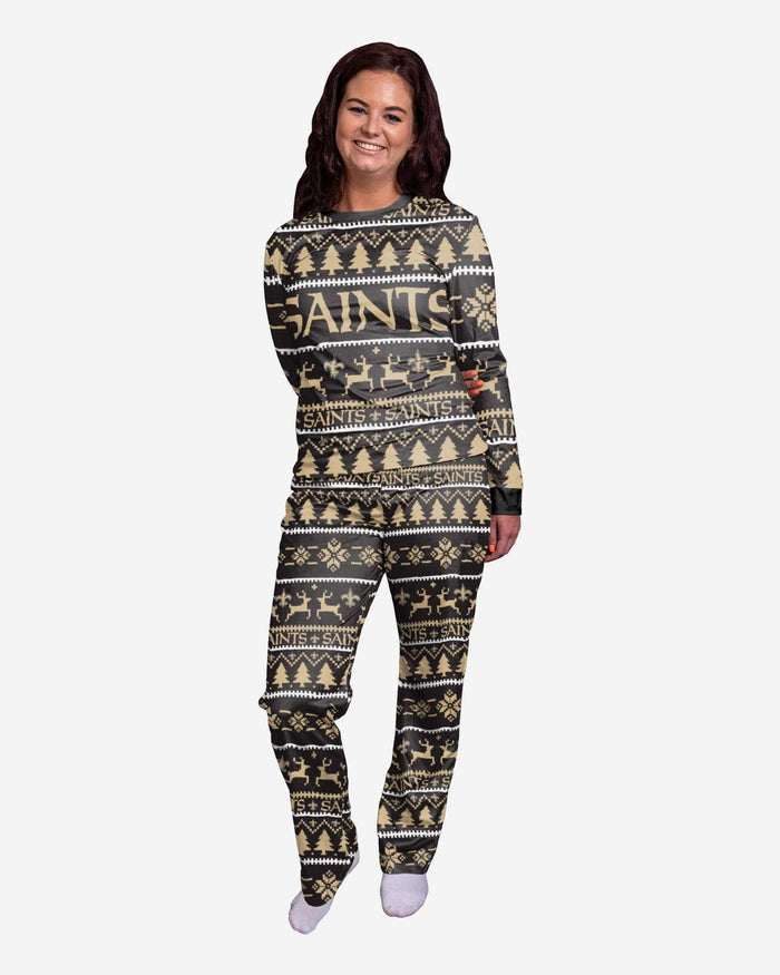 New Orleans Saints Womens Family Holiday Pajamas FOCO S - FOCO.com