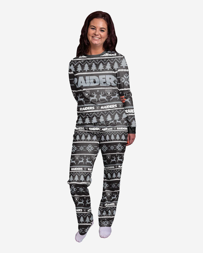 Oakland Raiders Womens Family Holiday Pajamas FOCO S - FOCO.com