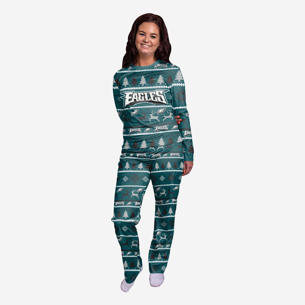 Philadelphia Eagles Womens Family Holiday Pajamas FOCO S - FOCO.com
