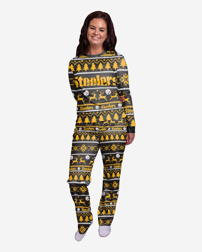 Pittsburgh Steelers Womens Family Holiday Pajamas FOCO S - FOCO.com