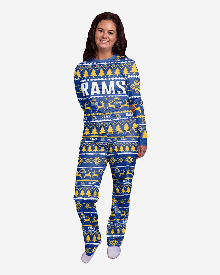 Los Angeles Rams Womens Family Holiday Pajamas FOCO S - FOCO.com