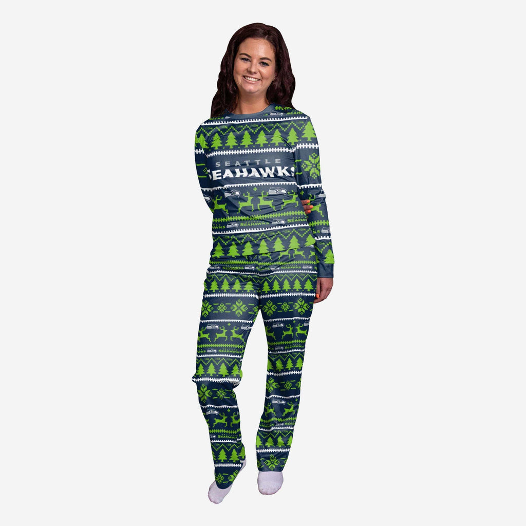 Seattle Seahawks Womens Family Holiday Pajamas FOCO S - FOCO.com