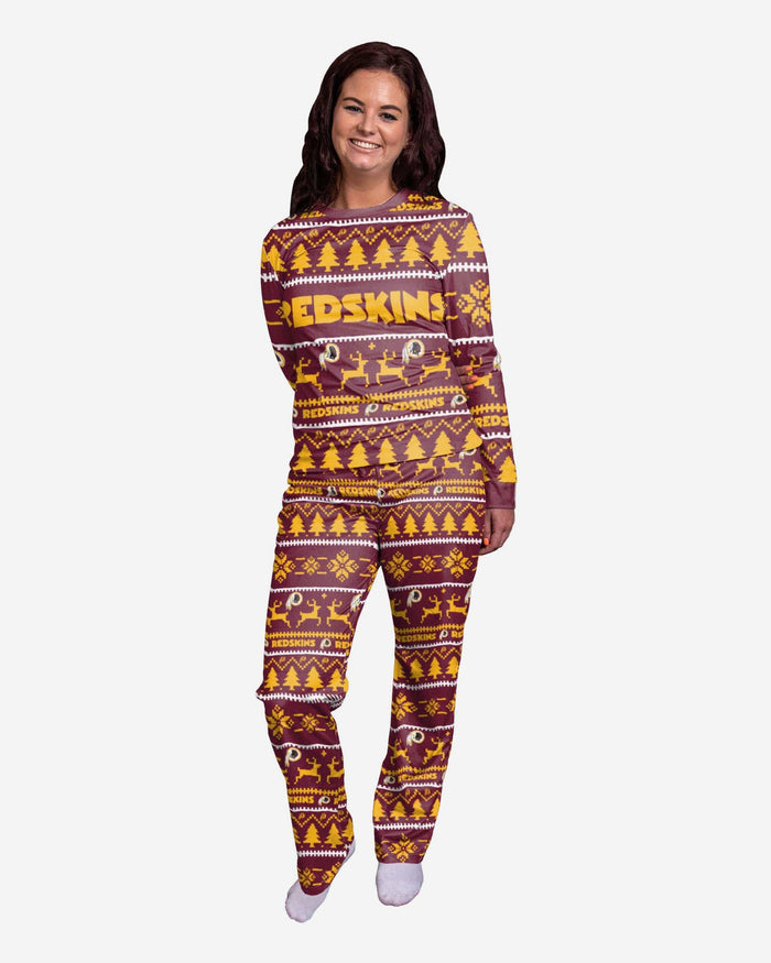 Washington Redskins Womens Family Holiday Pajamas FOCO S - FOCO.com