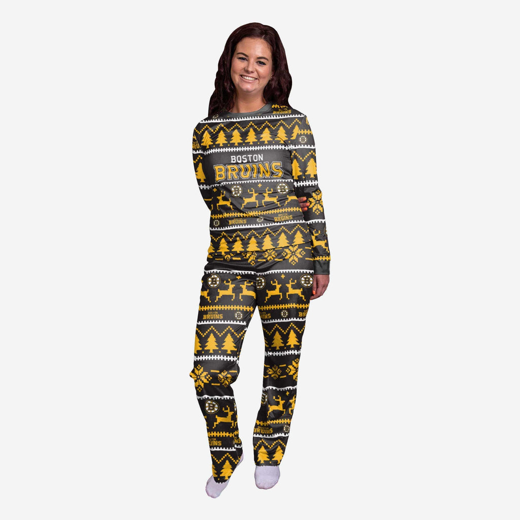 Boston Bruins Womens Family Holiday Pajamas FOCO S - FOCO.com