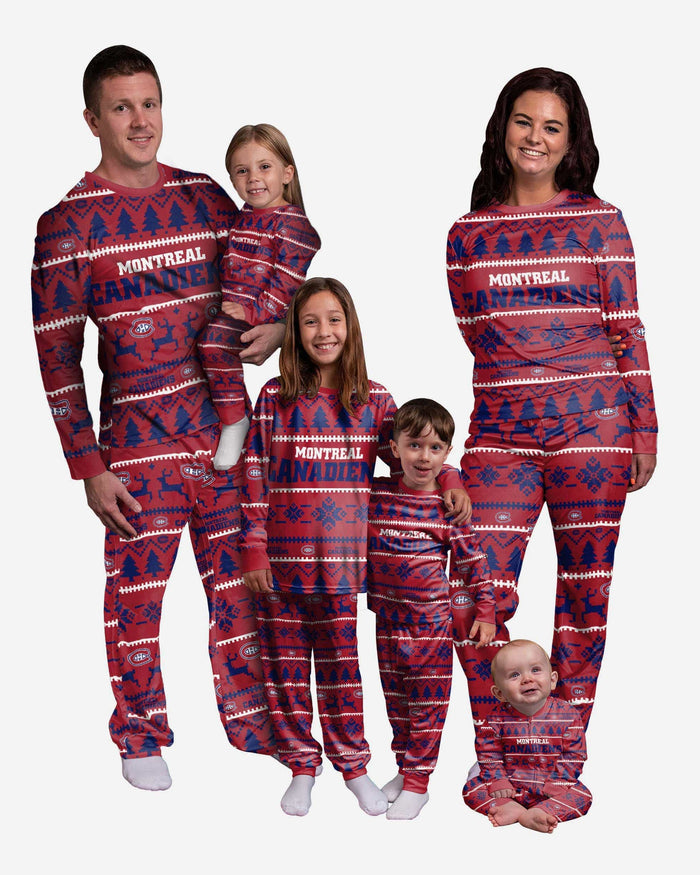 Montreal Canadiens Womens Family Holiday Pajamas FOCO - FOCO.com