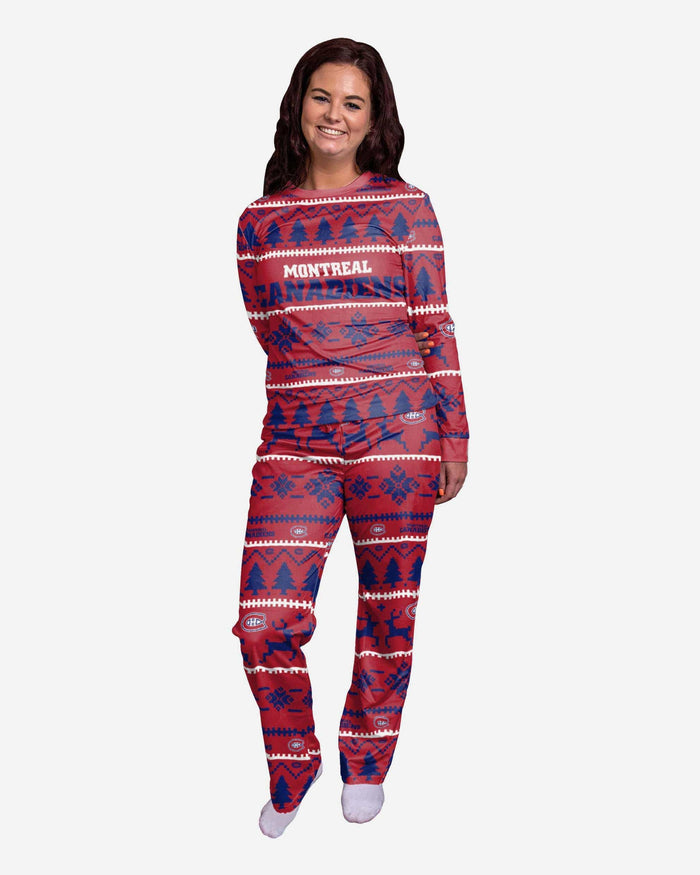 Montreal Canadiens Womens Family Holiday Pajamas FOCO S - FOCO.com