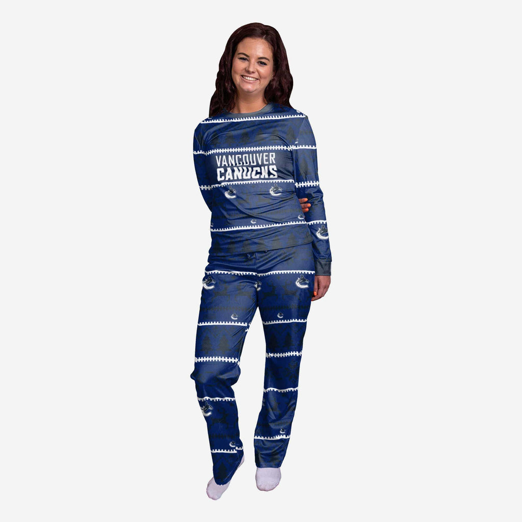 Vancouver Canucks Womens Family Holiday Pajamas FOCO S - FOCO.com