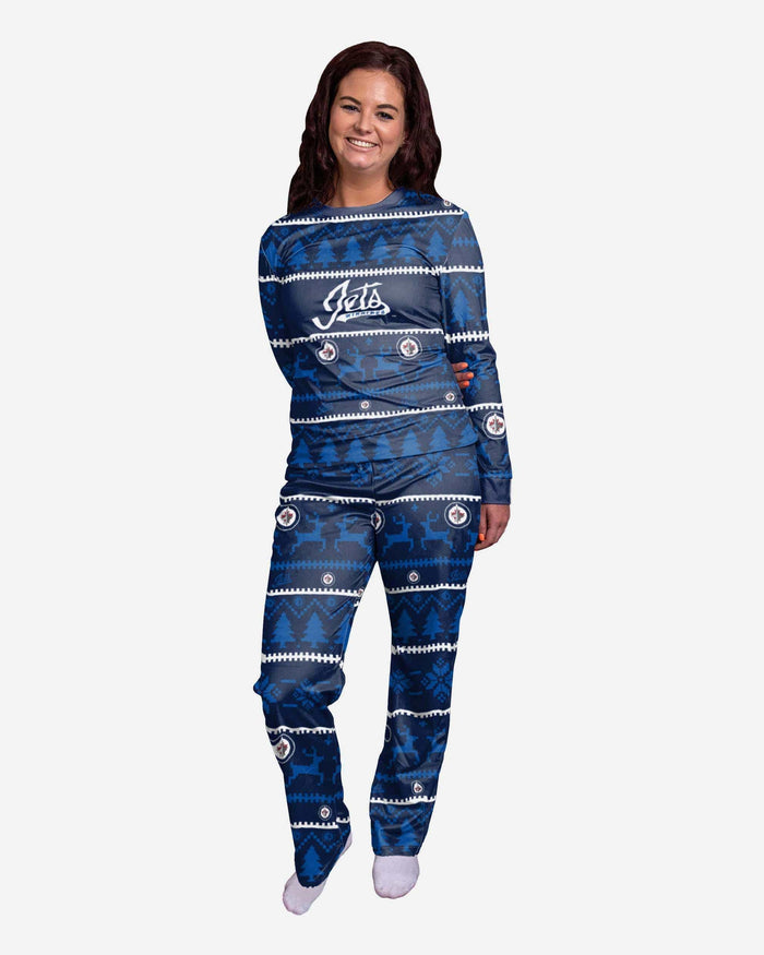 Winnipeg Jets Womens Family Holiday Pajamas FOCO S - FOCO.com