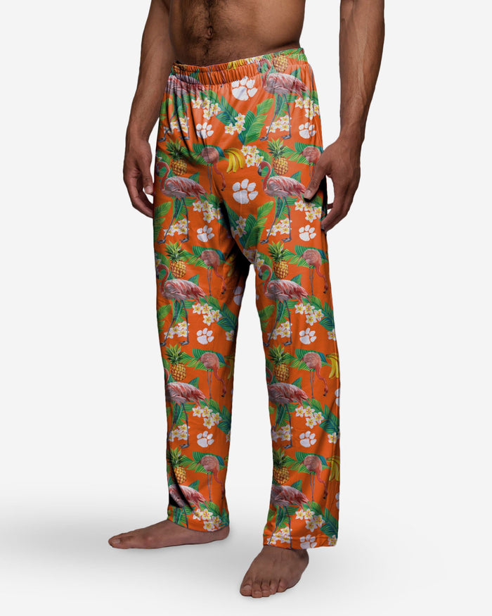 Clemson Tigers Floral Polyester Pant FOCO - FOCO.com