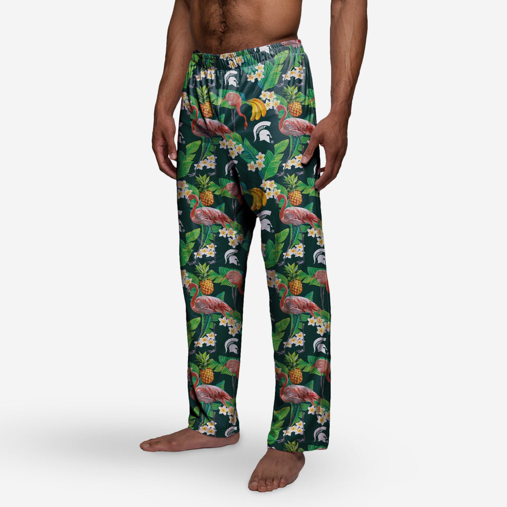 Michigan State Spartans Floral Polyester Pant
