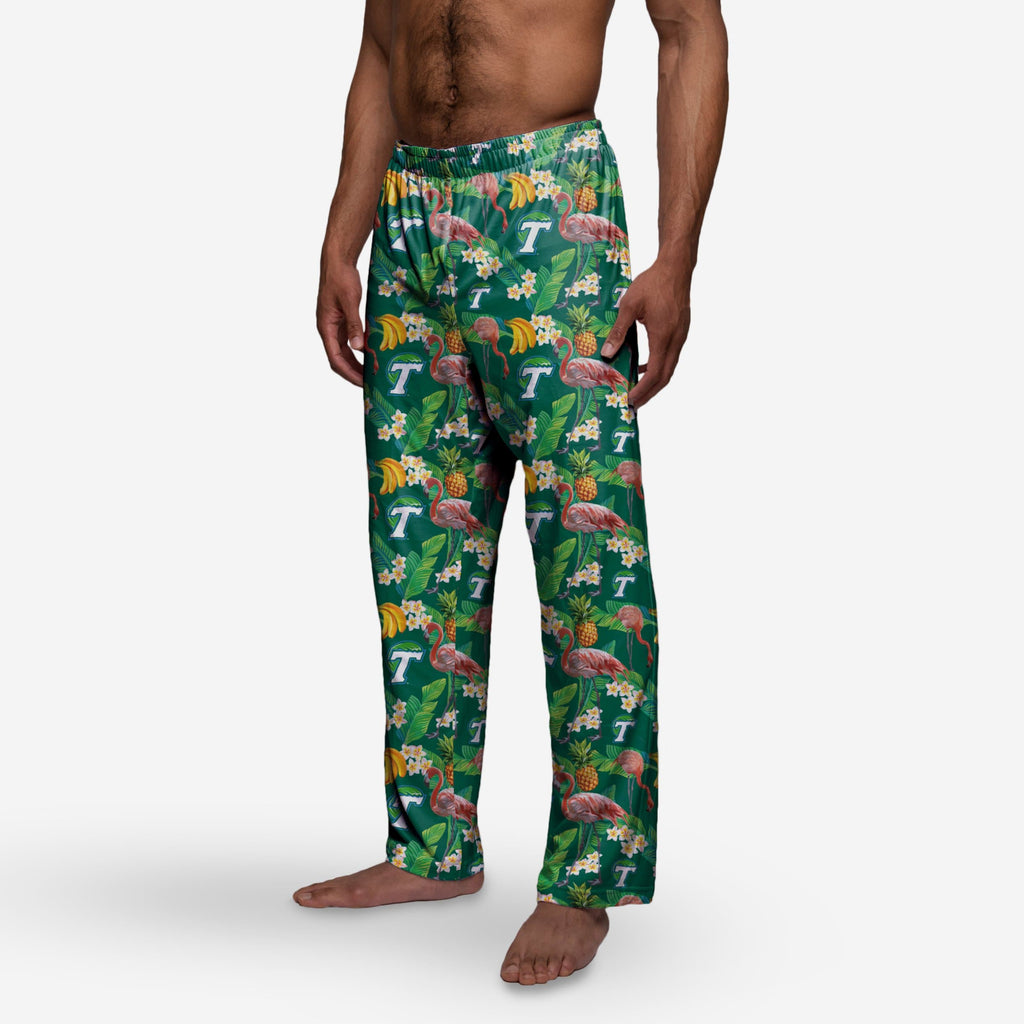 Tulane Green Wave Floral Polyester Pant FOCO - FOCO.com