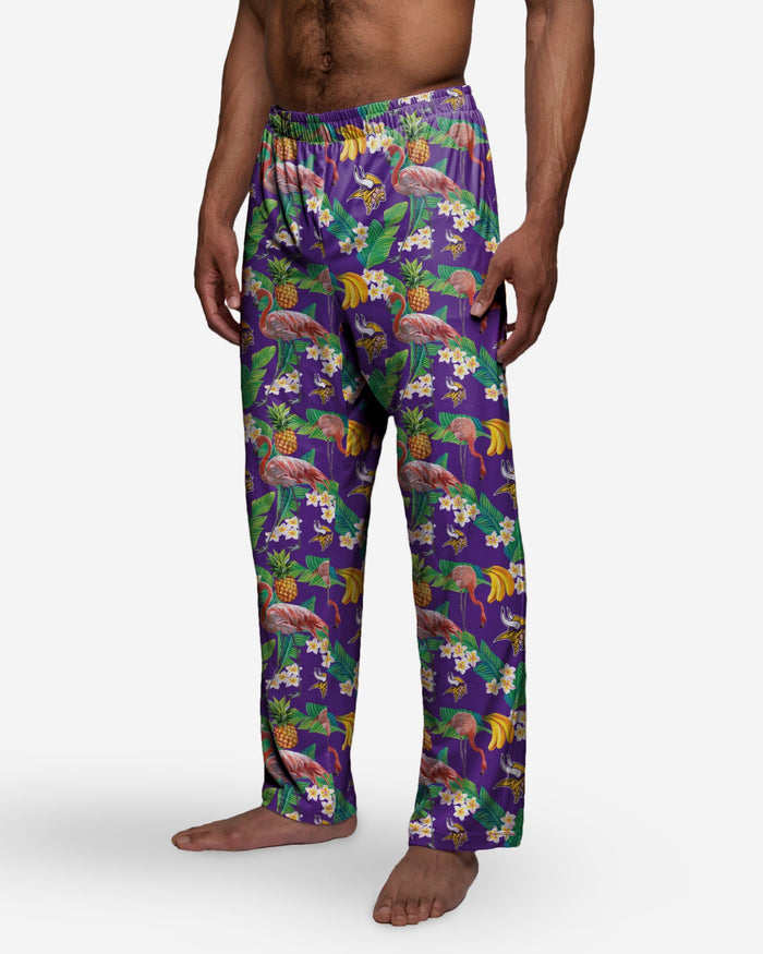 Minnesota Vikings Floral Polyester Pant FOCO - FOCO.com