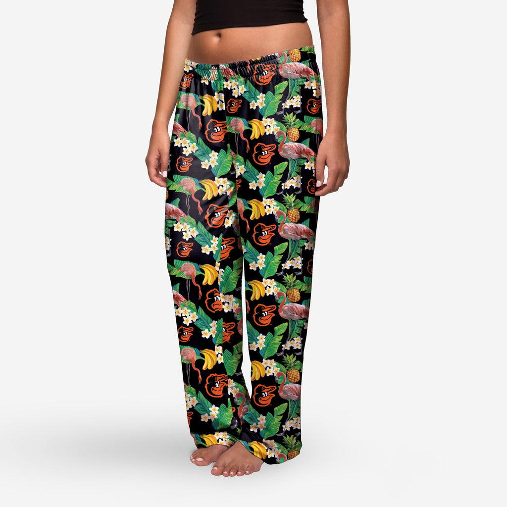 Baltimore Orioles Womens Floral Polyester Pant FOCO - FOCO.com