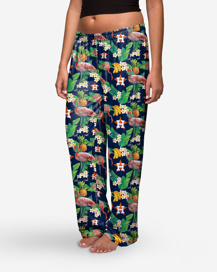 Houston Astros Womens Floral Polyester Pant FOCO - FOCO.com