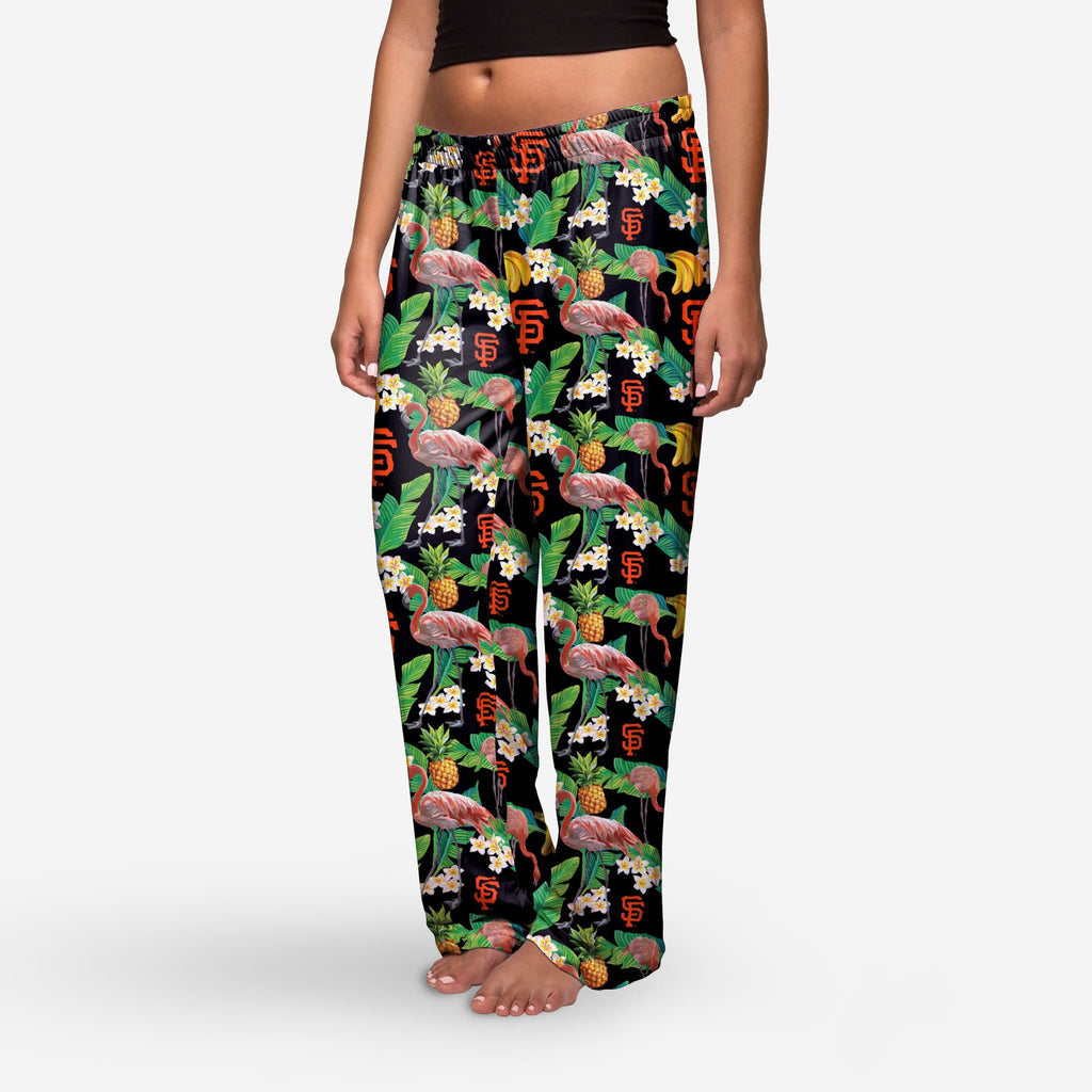 San Francisco Giants Womens Floral Polyester Pant FOCO - FOCO.com