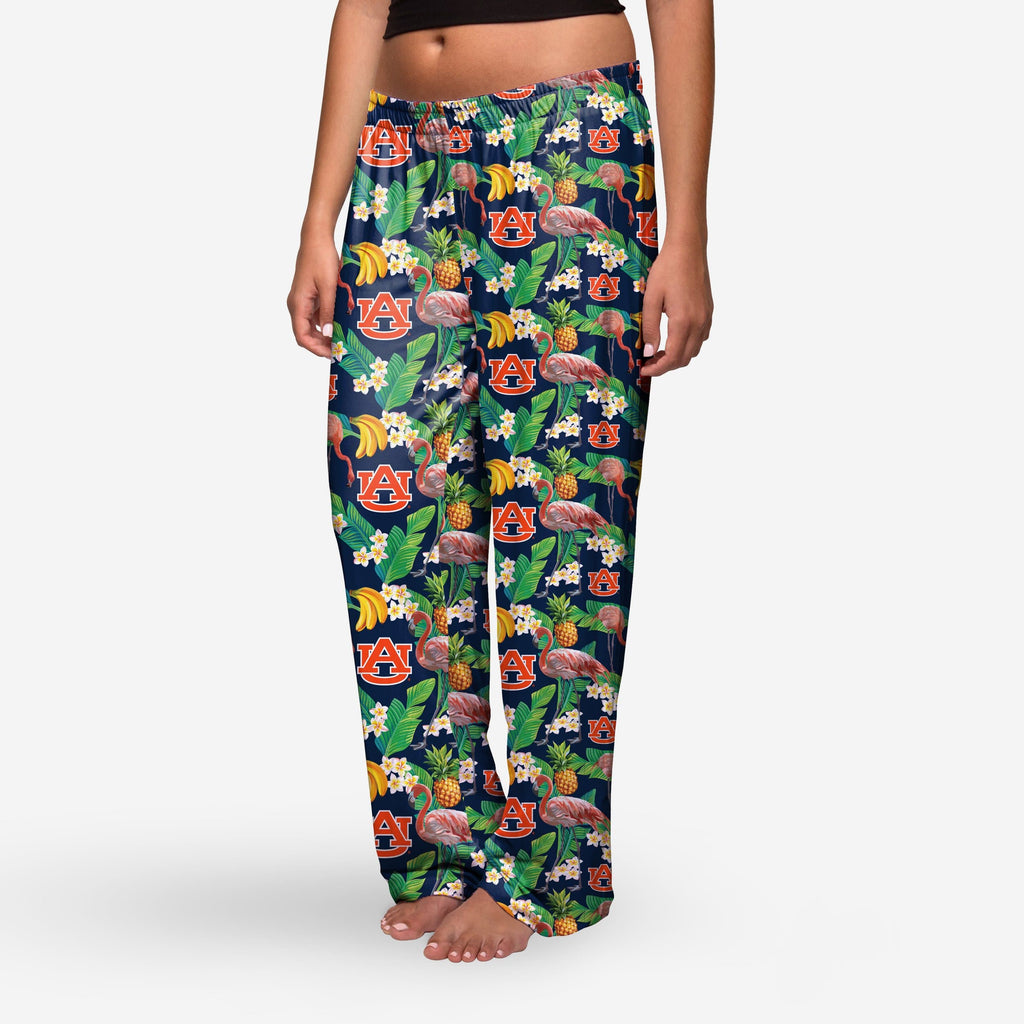 Auburn Tigers Womens Floral Polyester Pant