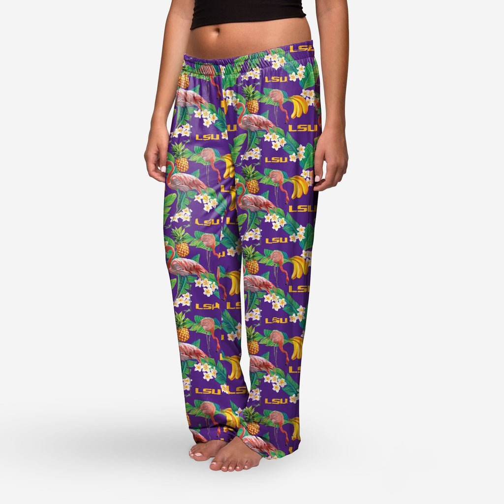 LSU Tigers Womens Floral Polyester Pant FOCO - FOCO.com