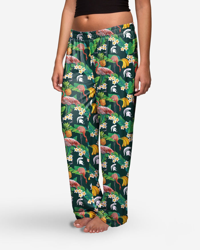 Michigan State Spartans Womens Floral Polyester Pant FOCO - FOCO.com