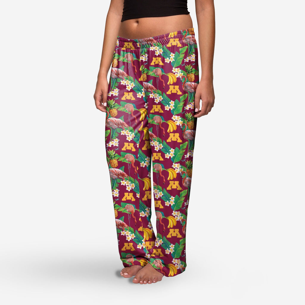 Minnesota Golden Gophers Womens Floral Polyester Pant