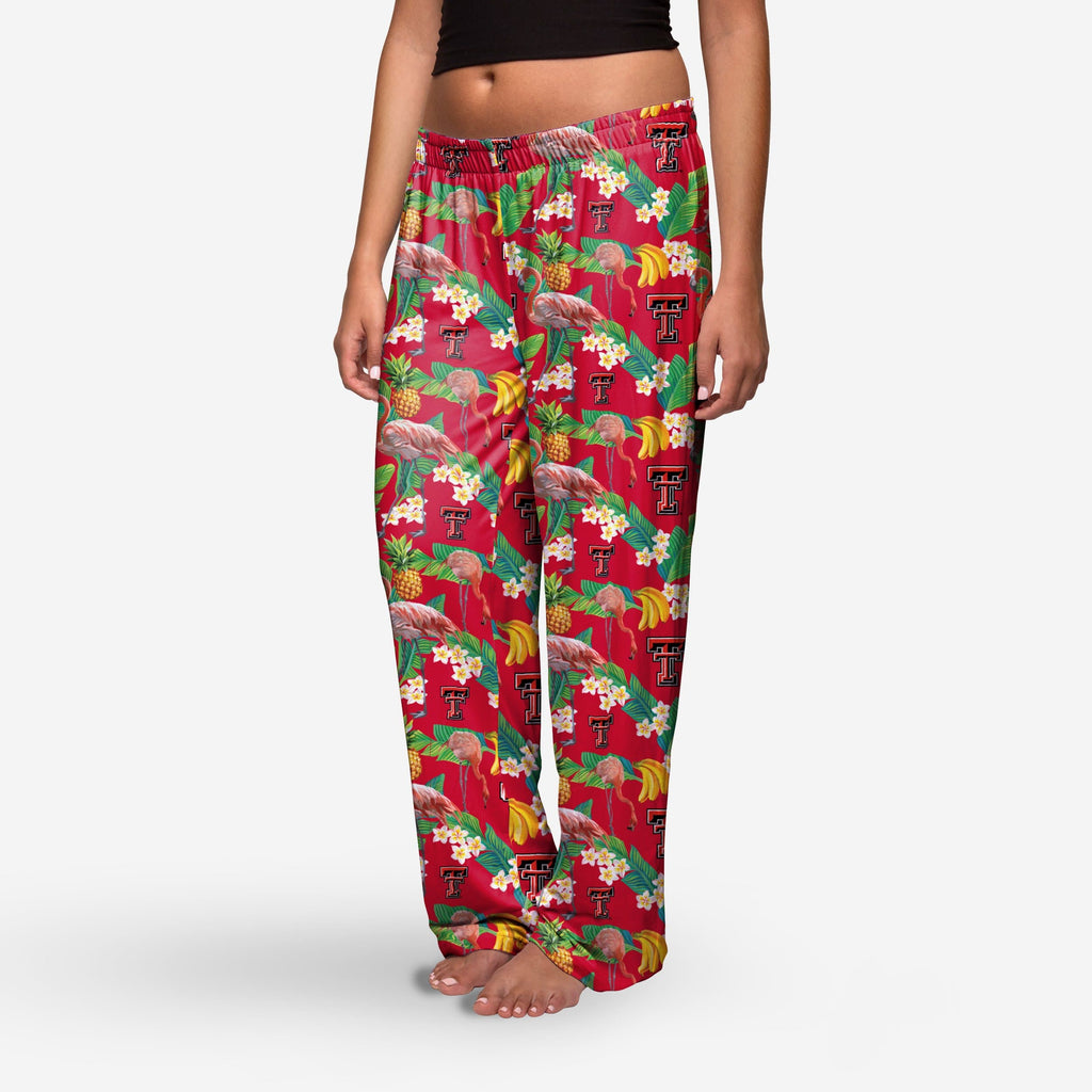 Texas Tech Red Raiders Womens Floral Polyester Pant