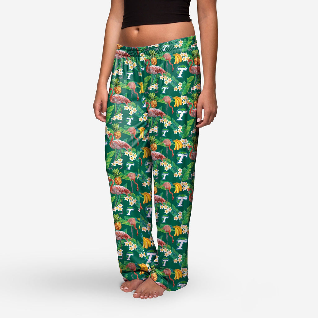 Tulane Green Wave Womens Floral Polyester Pant FOCO - FOCO.com