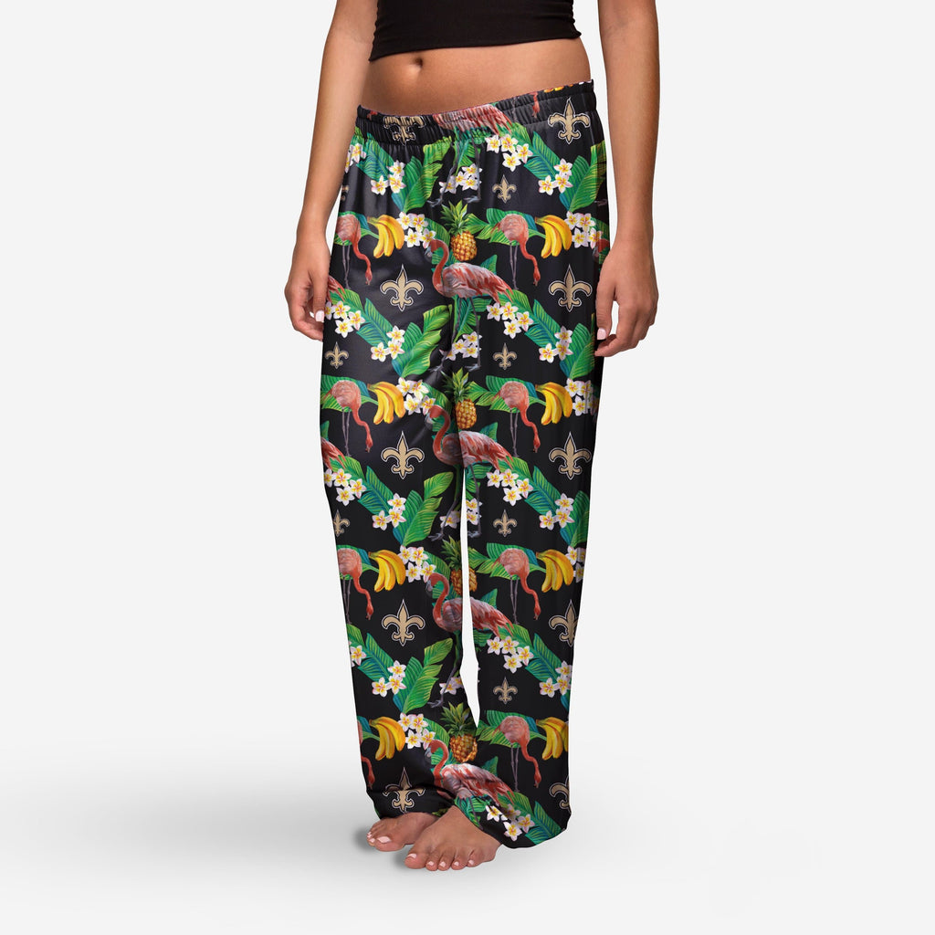 New Orleans Saints Womens Floral Polyester Pant