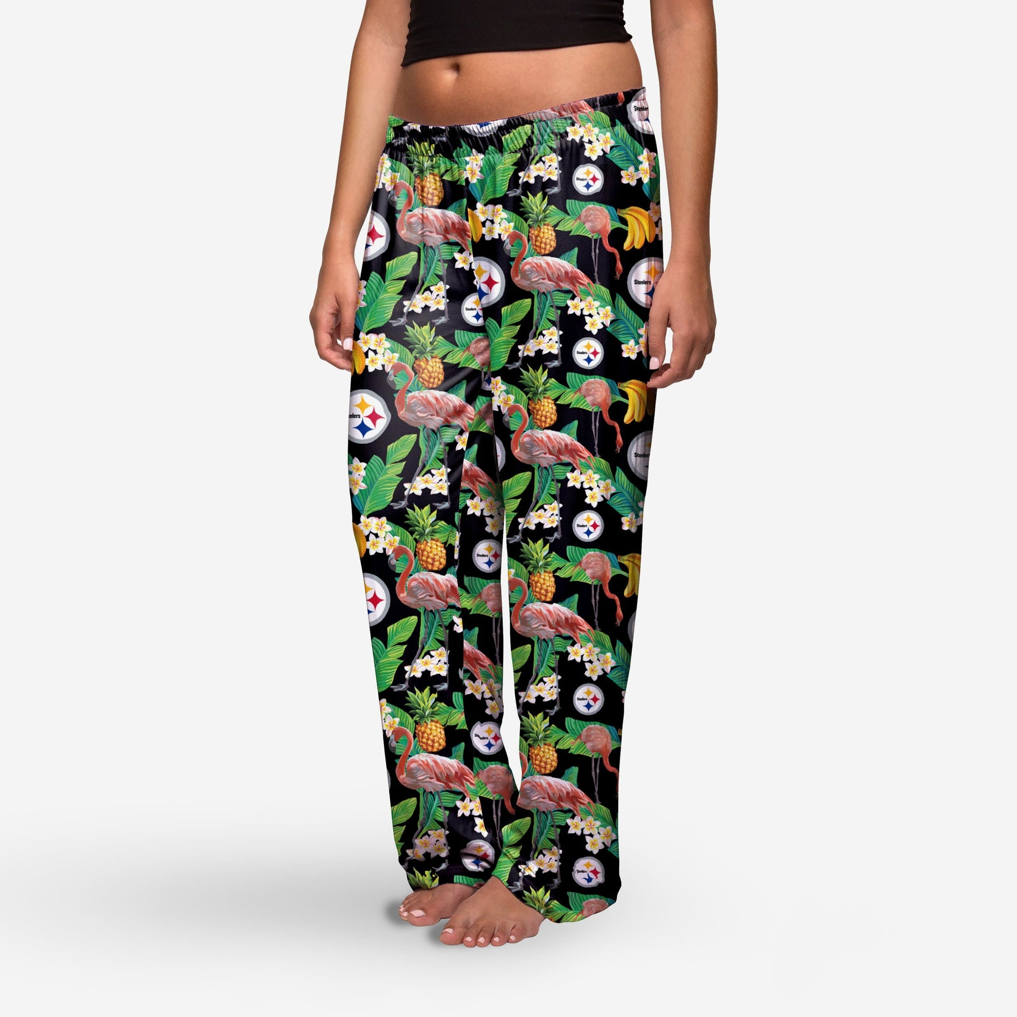 c6c4d5b5 Pittsburgh Steelers Womens Floral Polyester Pant - S