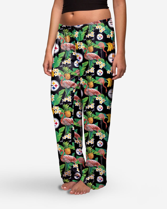 Pittsburgh Steelers Womens Floral Polyester Pant FOCO - FOCO.com