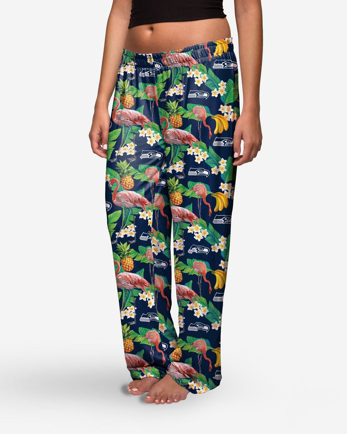 Seattle Seahawks Womens Floral Polyester Pant FOCO - FOCO.com
