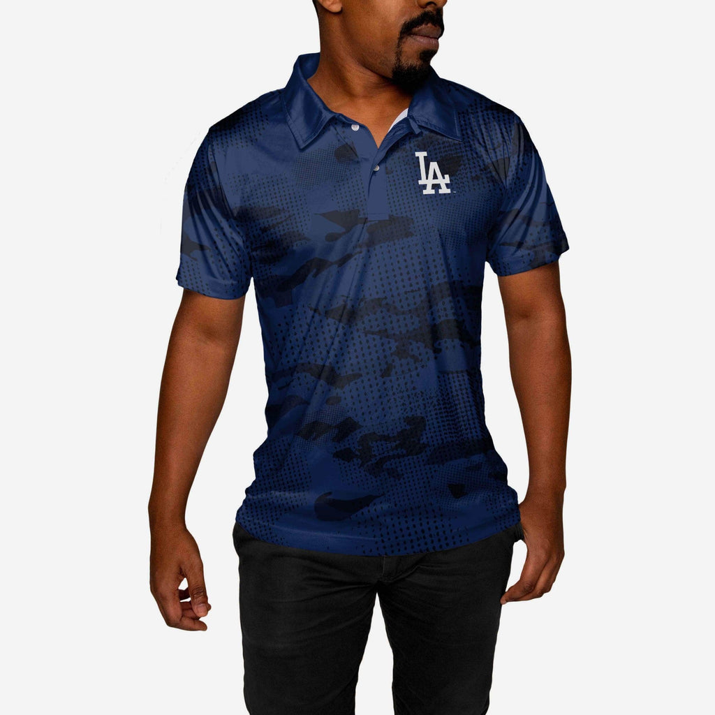 Los Angeles Dodgers Printed Camo Polo FOCO - FOCO.com
