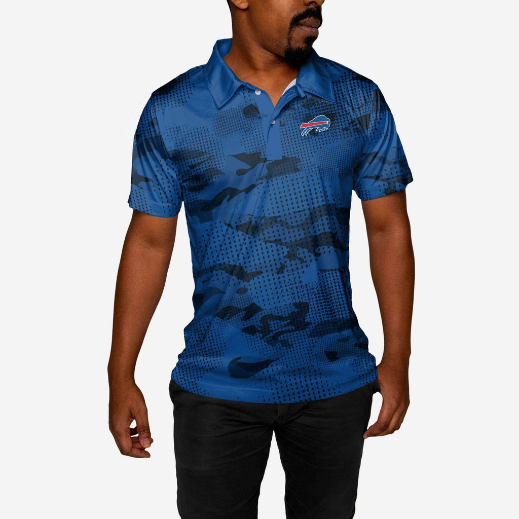 Buffalo Bills Mens Printed Camo Polo