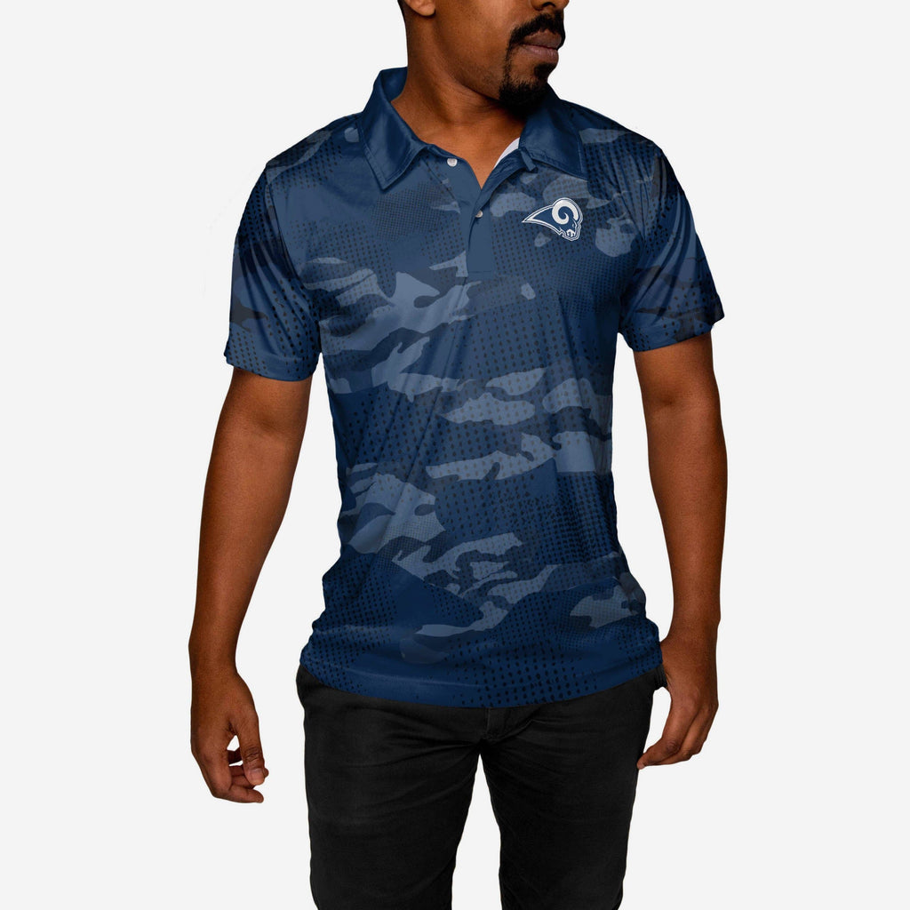 Los Angeles Rams Printed Camo Polo FOCO - FOCO.com