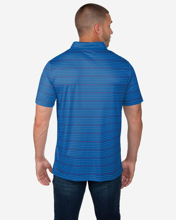 Buffalo Bills Striped Polyester Polo FOCO - FOCO.com