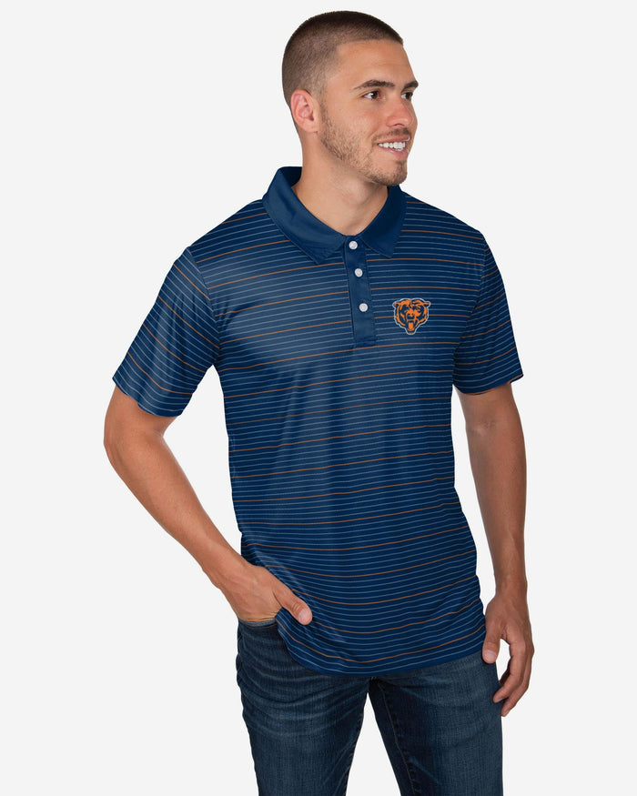 Chicago Bears Striped Polyester Polo FOCO S - FOCO.com