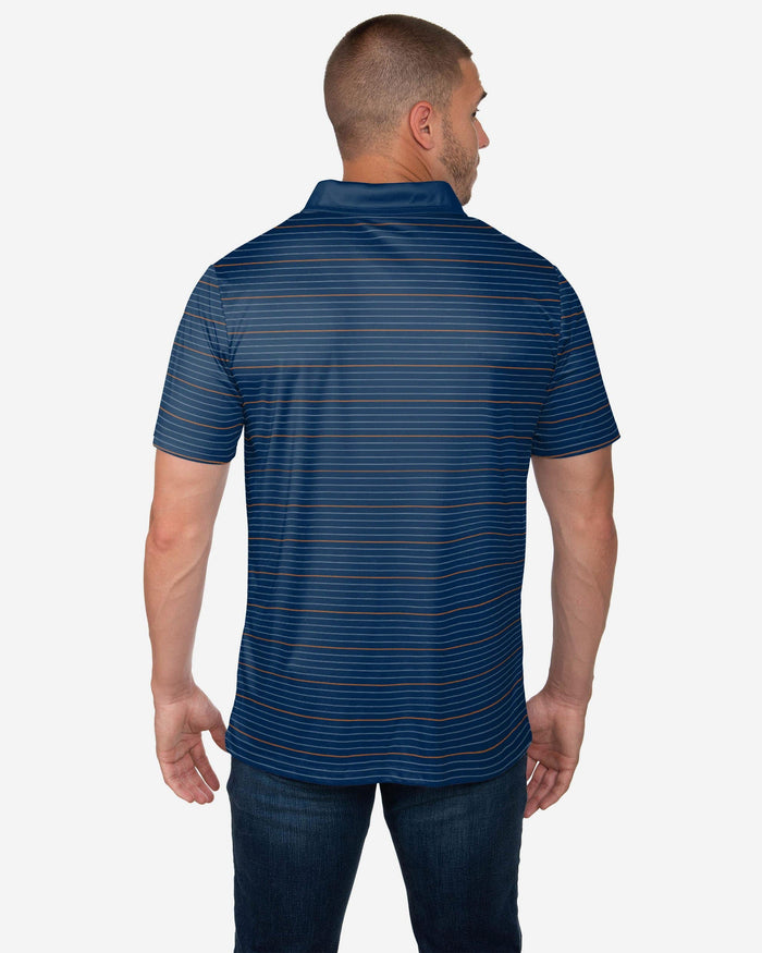 Chicago Bears Striped Polyester Polo FOCO - FOCO.com