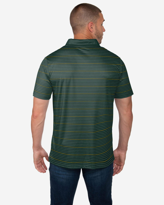 Green Bay Packers Striped Polyester Polo FOCO - FOCO.com