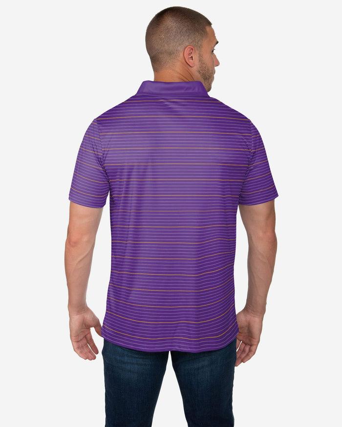 Minnesota Vikings Striped Polyester Polo FOCO - FOCO.com