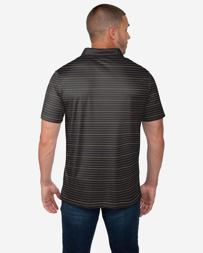 New Orleans Saints Striped Polyester Polo FOCO - FOCO.com