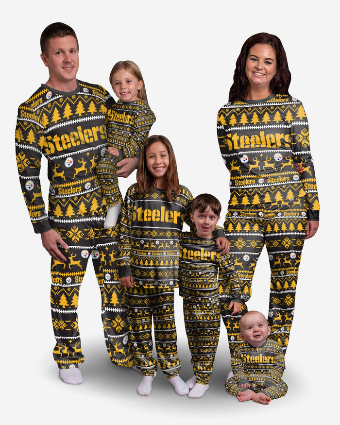 Pittsburgh Steelers Toddler Family Holiday Pajamas FOCO - FOCO.com