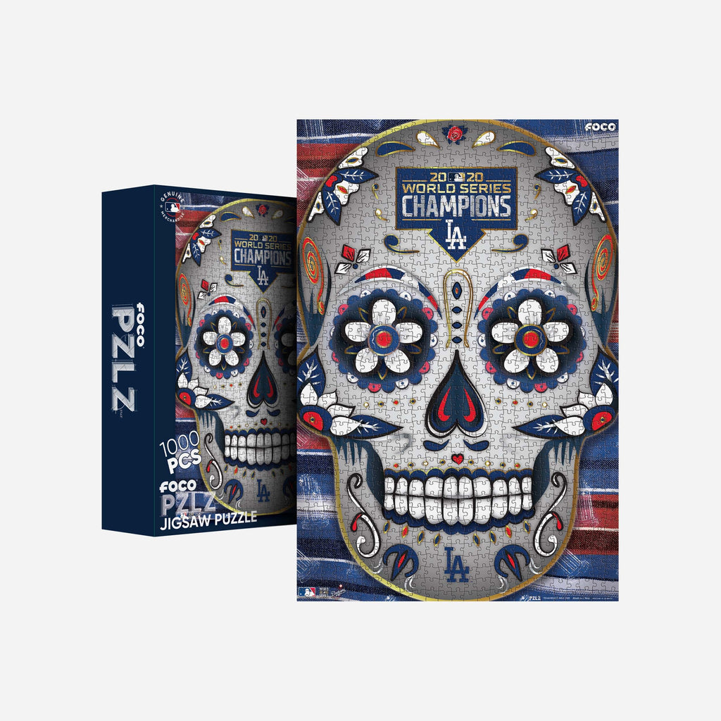 Los Angeles Dodgers 2020 World Series Champions Day Of The Dead 1000 Piece Jigsaw PZLZ FOCO - FOCO.com