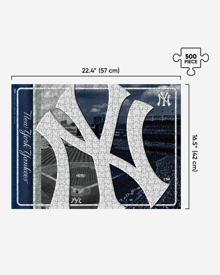 New York Yankees Big Logo 500 Piece Jigsaw Puzzle PZLZ FOCO - FOCO.com