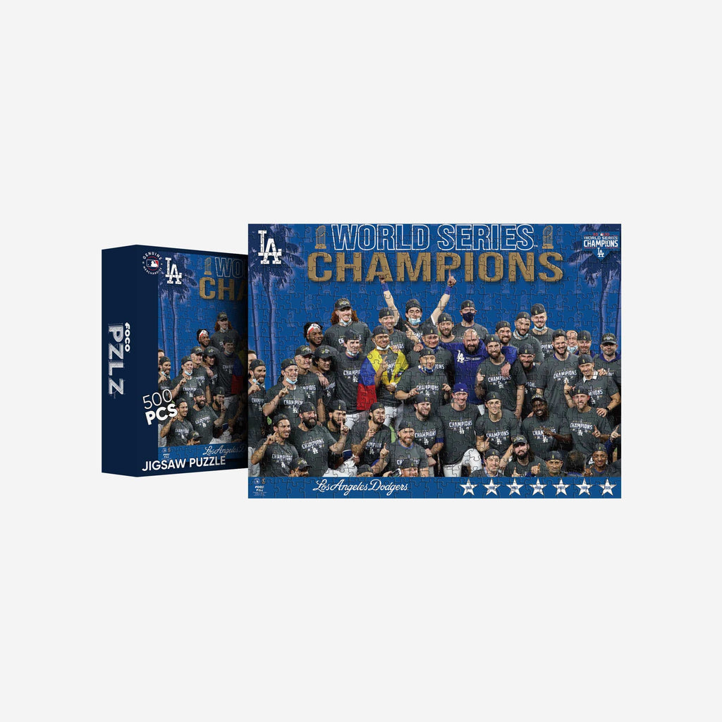 Los Angeles Dodgers 2020 World Series Champions Team Celebration 500 Piece Jigsaw PZLZ FOCO - FOCO.com