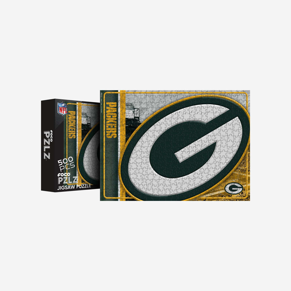 Green Bay Packers Big Logo 500 Piece Jigsaw Puzzle PZLZ FOCO - FOCO.com