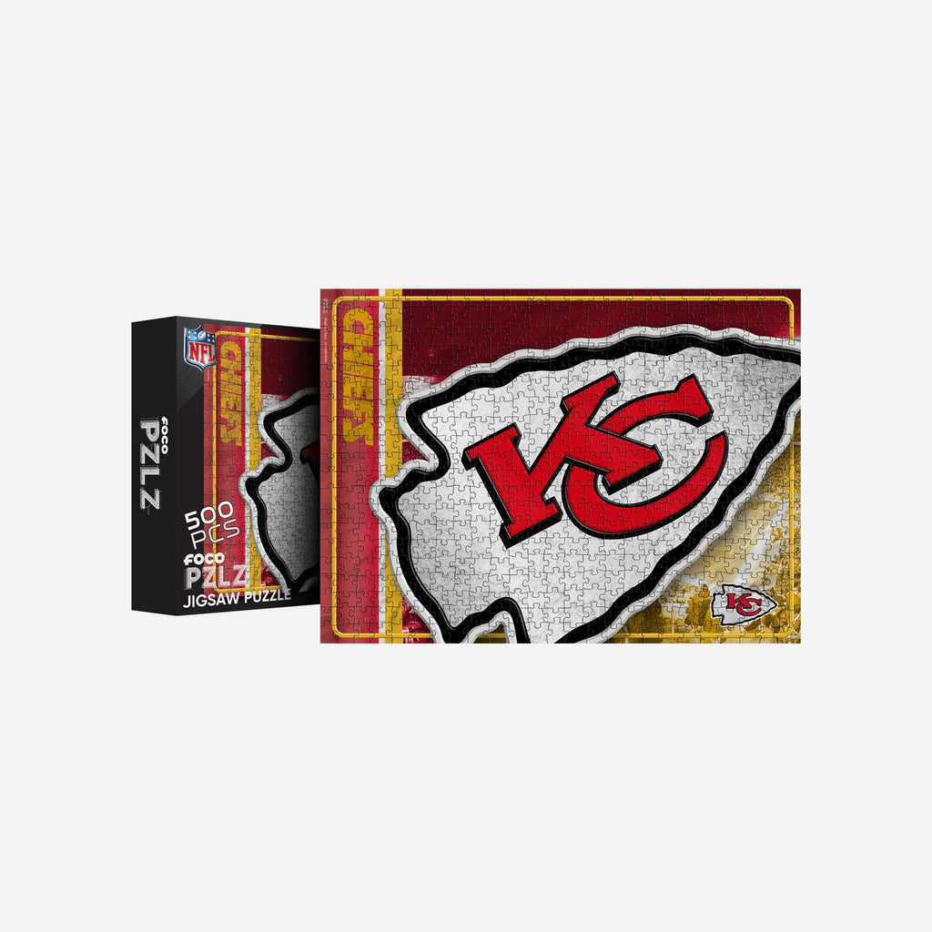 Kansas City Chiefs Big Logo 500 Piece Jigsaw Puzzle PZLZ FOCO - FOCO.com