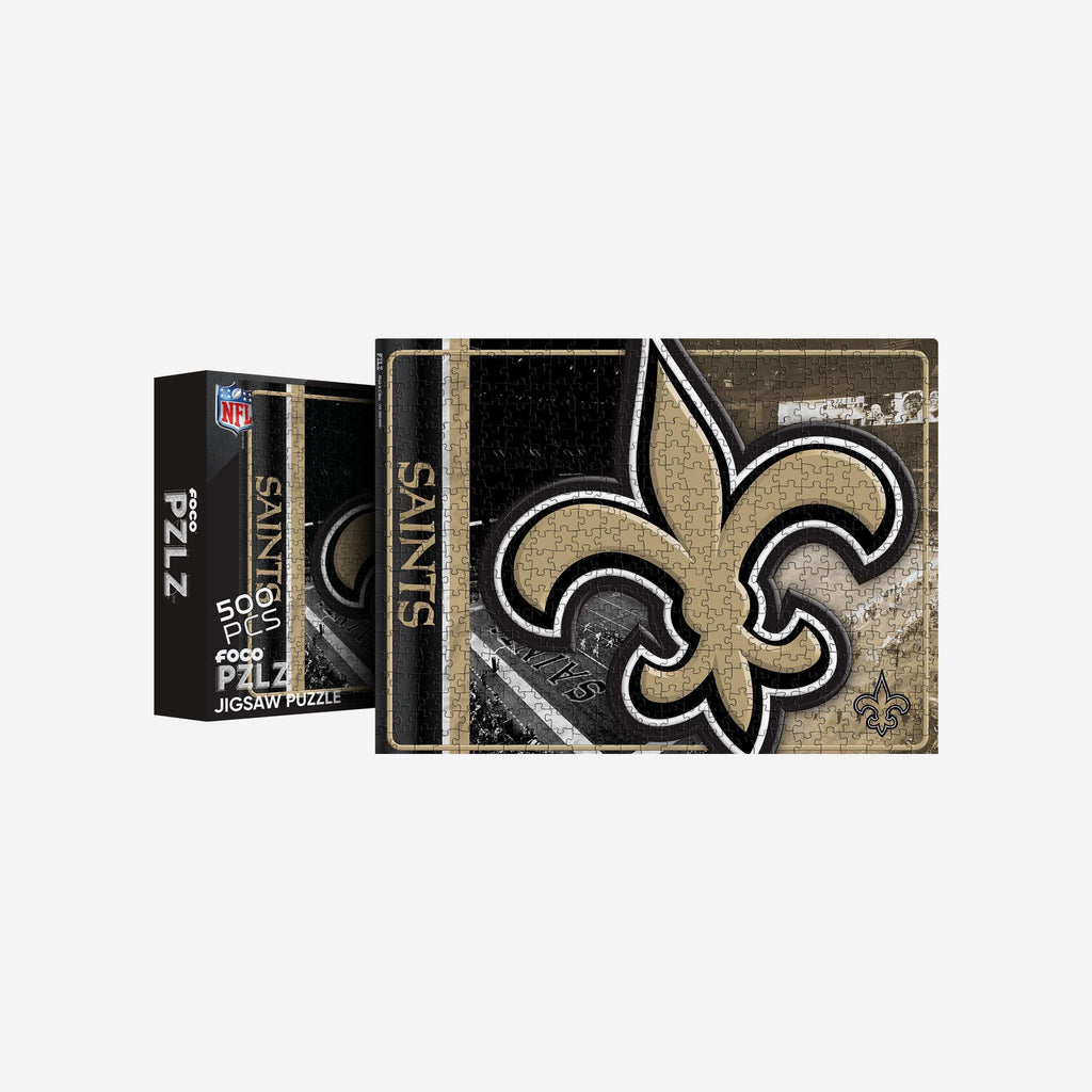 New Orleans Saints Big Logo 500 Piece Jigsaw Puzzle PZLZ FOCO - FOCO.com