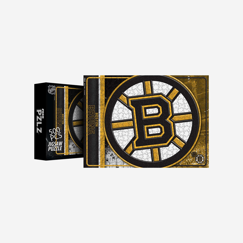 Boston Bruins Big Logo 500 Piece Jigsaw Puzzle PZLZ FOCO - FOCO.com