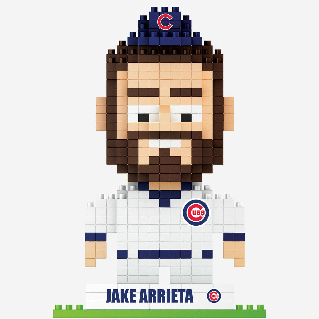Jake Arrieta Chicago Cubs 2016 World Series Champions BRXLZ Mini Player