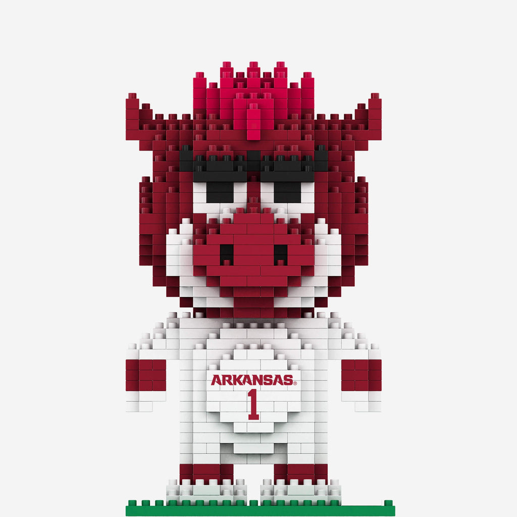 Tusk and Big Red Arkansas Razorbacks BRXLZ Mascot