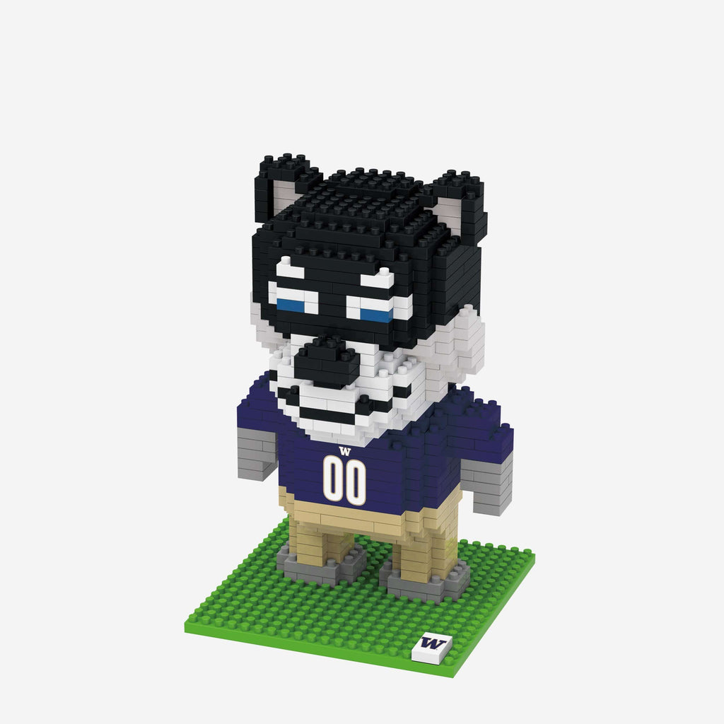 Harry the Husky Washington Huskies BRXLZ Mascot FOCO - FOCO.com
