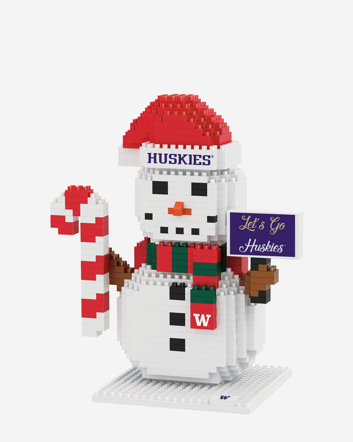 Washington Huskies BRXLZ Snowman FOCO - FOCO.com